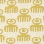 Akoma - African Gilded Duafe (Comb) Symbol on Cream