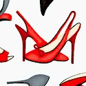 Dress Up 2 - Designer Shoes in Red  Grey and Black