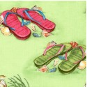 Seaside Rendezvous - Summertime Flip Flops #2 by Jane Maday - LTD. YARDAGE AVAILABLE
