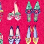 Ruru Marie - Vintage Shoes in Rows on Primrose