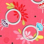 Girly Girl - Tossed Rings on Pink