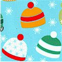 Over the River - Tossed Winter Knit Hats by Barbara Jones of Quilt Soup