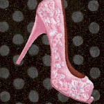 Shoe Dance - Tossed Shoes on Polka Dots
