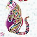 Cat-i-tude: Elegant Gilded Cats #2