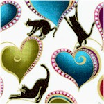 Cat-i-tude: Elegant Gilded Cats and Hearts #1