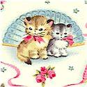 Smitten Kittens - Adorable Retro Cats on Cream