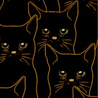 Full Moon - Gilded, Packed Black Cats