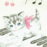 Dear Little World - Vintage Kittens on Keyboards #2