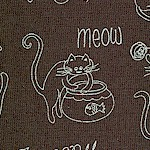 Purrsnickitty - Whimsical Cats in Dark Gray and White