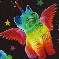 Tossed Winged Rainbow Unicorn Cats