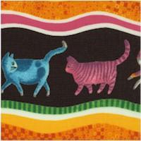 Prisma Cats Vertical Stripe by Ingrid Slyder