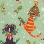 Not Ameowsed - Whimsical Retro Holiday Cats
