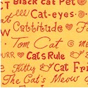 Cool Cats - Cat Phrases on Gold