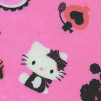 Hello Kitty - Ma Cherri on Pink FLANNEL - 43 Inches wide