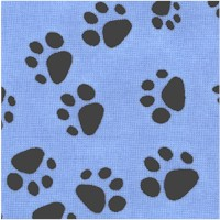 Pampered Pets - Pawprints on Blue