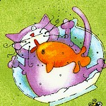 Pampered Pets - Tossed Whimsical Cats