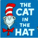 The Cat in the Hat - Tossed Cats on Blue