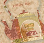 Tea Time - Tossed Collage Teapots and Teacups