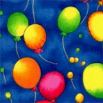 Colorful Balloons on Blue