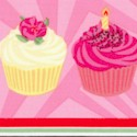 Birthday Cupcakes Vertical Stripe