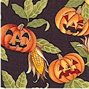 Boo! Bears Tossed Jack-o-Lanterns on Black - LTD. YARDAGE AVAILABLE (.5 YD) MUST BE PURCHASED IN FUL