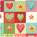 Love Heart - Gilded Small Scale Hearts in Squares