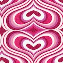 Retro 60�s Hearts in Pink