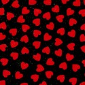 Tossed Petite Hearts on Black - LTD. YARDAGE AVAILABLE (.81 YD.) MUST BE PURCHASED IN FULL.