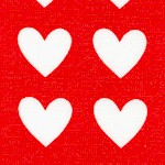 Remix - Mini Hearts on Red by Anne Kelle Designs