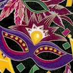 Party Gras - Gilded Masks  Feathers and Crowns