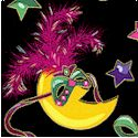 Party Gras - Crescent Moons in Costume