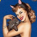 Bewitched - Sultry Halloween Pinups on Blue