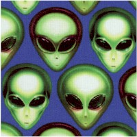 Area 51 - Rows of Aliens on Blue