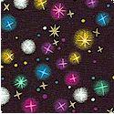 Gilded Rainbow Stars on Black - LTD. YARDAGE AVAILABLE