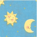 Toy Chest - Adorable Moons and Stars on Blue
