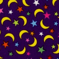 Jungle - Colorful Moons and Stars by French Bull