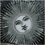 Stargazing - Metallic Silver Moons  Starsand Astrological Tools on Black
