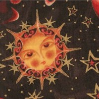 Celestial Dreams - Gilded Moons, Suns and Stars on Black
