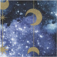 Magical Galaxy - Gilded Stars and Moons - 43 inches wide