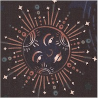 Astral - Wishwell: Moonlight Tossed Moons and Stars on Navy