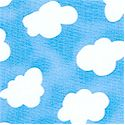 My Heart Comes to You -Tossed Fluffy Clouds on Blue