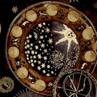 Cosmic Skies - Gilded Moons, Stars and Astrological Symbols on Black