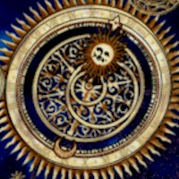Cosmic Skies - Gilded Moons, Stars and Astrological Symbols on Blue
