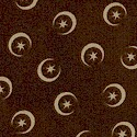 Moon and Stars on Deep Brown