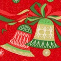 Chloe's Christmas - Gilded Bells on Red - LTD. YARDAGE AVAILABLE