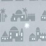 Christmas Pure and Simple - Bethlehem in Shades of Gray - LTD. YARDAGE AVAILABLE (.5 YD.) MUST BE PU