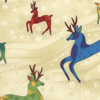 Holiday Celebrations - Gilded Reindeer by Laurel Burch