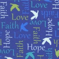 Psalms -Words of Faith on Blue by Cindy Sepp