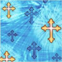 The Lord is My Shepherd - Crosses on Blue