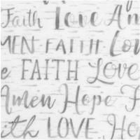 Words of Faith on Gray